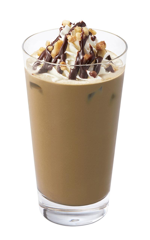 ↑ ほうじ茶とくるみのチョコレートラテ