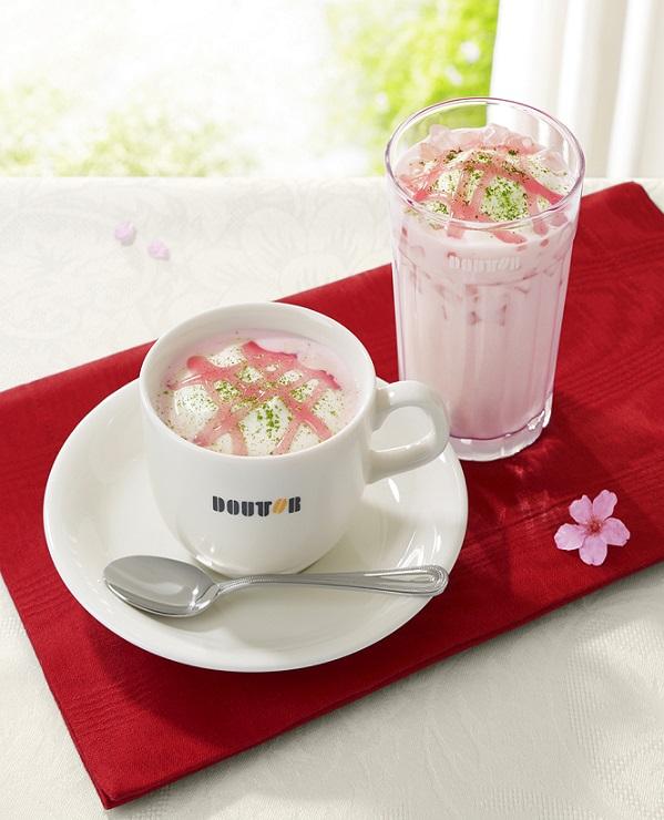 桜香るホワイトショコラ・ラテ(HOT&ICE)